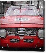 1967 Alfa Romeo Gtv Watercolor Acrylic Print