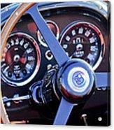 1967 Aston Martin Db6 Volante Steering Wheel 2 Acrylic Print
