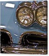 1967 Blue Corvette-front Left Acrylic Print
