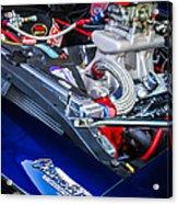 1967 Chevrolet Camaro Ss 350 Engine - Hood Emblem  Acrylic Print
