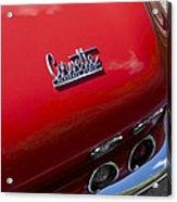 1967 Chevrolet Corvette Taillight Emblem Acrylic Print