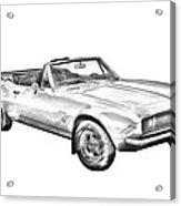 1967 Convertible Camaro Car Illustration Acrylic Print