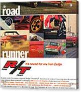 1967 Dodge Coronet R/t Acrylic Print