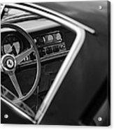 1967 Ferrari 275 Gtb-4 Berlinetta Steering Wheel Acrylic Print by Jill Reger