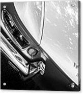 1967 Ferrari 330 Gts Taillight Emblem -0406bw Acrylic Print