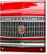 1967 Fiat Abarth 1000 Otr Grille Acrylic Print