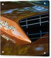 1967 Ford Mustang Cobra Jet Hood Emblem Acrylic Print