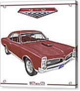 1967 G T O Pontiac Acrylic Print