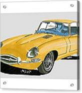 1967 Jaguar X K E Coupe Acrylic Print