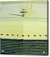 1967 Lincoln Continental Grille Emblem - Hood Ornament Acrylic Print