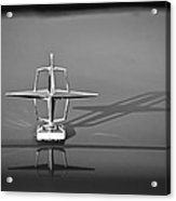 1967 Lincoln Continental Hood Ornament -158bw Acrylic Print