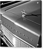 1967 Lincoln Continental Hood Ornament - Emblem -646bw Acrylic Print