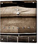1967 Lincoln Continental Hood Ornament - Emblem Acrylic Print