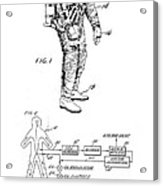 1967 Nasa Astronaut Ventilated Space Suit Patent Art 3 Acrylic Print