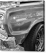 1967 Plymouth Belvedere Gtx 440 Painted Bw   Acrylic Print