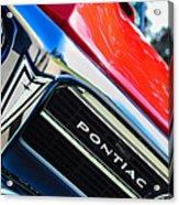 1967 Pontiac Firebird Grille Emblem Acrylic Print