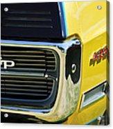 1967 Pontiac Hurst Grand Prix Convertible Grille Emblem -3569c Acrylic Print