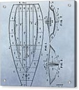 1967 Sailboat Patent Acrylic Print