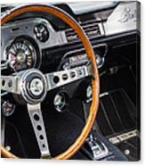 1967 Shelby Gt 350 Signed Dash Acrylic Print