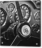 1968 Aston Martin Steering Wheel Emblem Acrylic Print