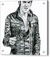 1968 Black Leather Suit Acrylic Print