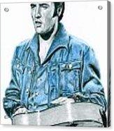 1968 Blue Denim Suit Acrylic Print