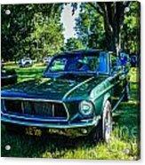 1968 Bullitt Mustang Acrylic Print