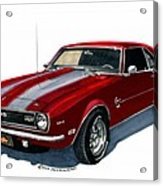 1968 Camaro Ss 350 Acrylic Print