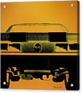 1968 Camaro Ss  Full Rear Acrylic Print