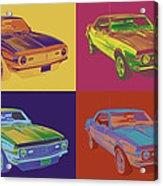 1968 Chevrolet Camaro 327 Muscle Car Pop Art Acrylic Print