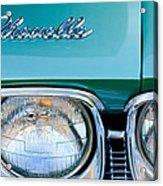 1968 Chevrolet Chevelle Headlight Acrylic Print