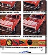 1968 Chevy Camaro Acrylic Print