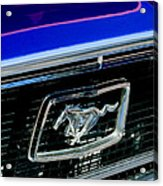 1968 Ford Mustang Cobra Gt 350 Grille Emblem Acrylic Print