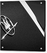 1968 Maserati Ghibli Emblem Acrylic Print