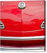1968 Volkswagen Karmann Ghia Convertible Hood Emblem Acrylic Print