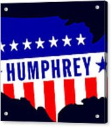 1968 Vote Humphrey For President Acrylic Print