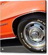 1969 Chevrolet Camaro Rs - Front Quarter Panel - 7552 Acrylic Print
