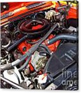 1969 Chevrolet Camaro Rs - Orange - 350 Engine - 7567 Acrylic Print