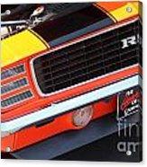 1969 Chevrolet Camaro Rs - Orange - Front End 7550 Acrylic Print