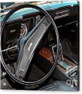 1969 Chevrolet Camaro Rs - Orange - Interior - 7601 Acrylic Print