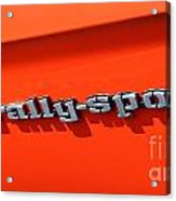 1969 Chevrolet Camaro Rs - Orange - Side Rs - 7562 Acrylic Print
