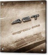 1969 Chevrolet Corvette 427 Emblem Acrylic Print
