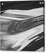 1969 Chevrolet Corvette Roadster 427 Hood Emblem -0654bw Acrylic Print