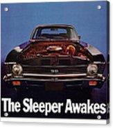1969 Chevy Nova Ss - The Sleeper Awakes Acrylic Print