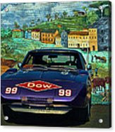 1969 Dodge Daytona Stock Car Replica Acrylic Print