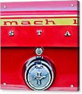 1969 Ford Mustang Mach 1 Rear Emblems Acrylic Print