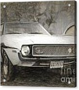 1969 Ford Mustang Acrylic Print
