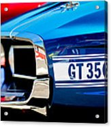 1969 Ford Mustang Shelby Gt350 Grille Emblem Acrylic Print