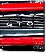 1969 Gto Grill Acrylic Print
