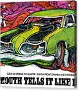 1969 Plymouth 'cuda 340 Acrylic Print